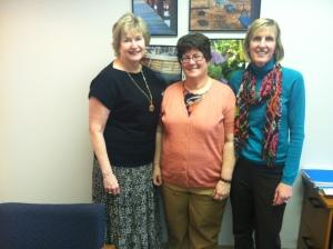"""Explore """"Guides"""" l to r: Melinda Berger, Mary Margaret McClurg, Sue Eisenhart"""